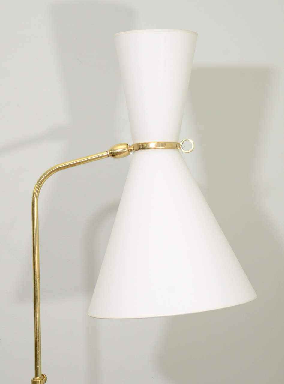 French Pair of Robert Mathieu Floor Lamps For Sale