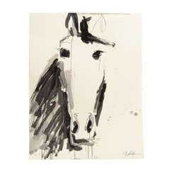 Horse Head Drawing by Jenna Snyder-Phillips