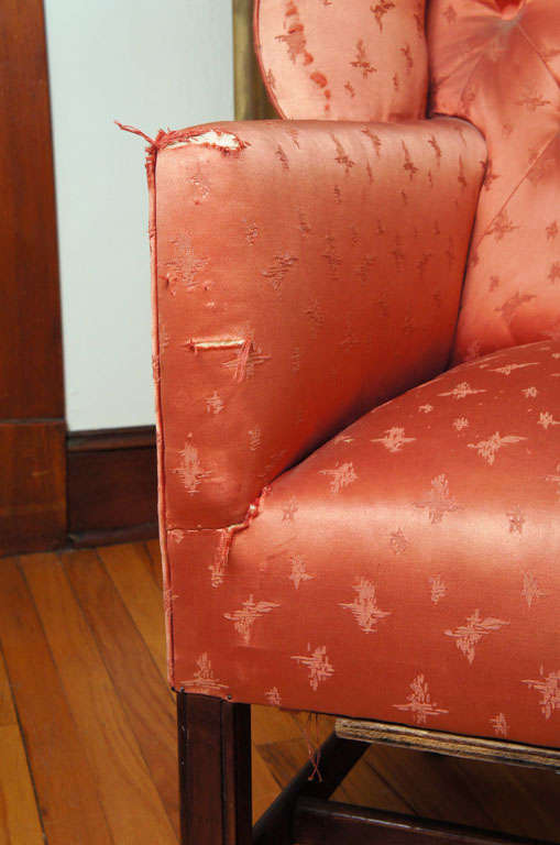 Boldly Figured Wingback Chair For Sale 2