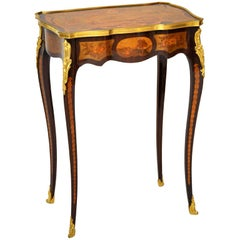Rococo Marquetry Gueridon Table or Occasional Table after Roentgen, Paris, 1850