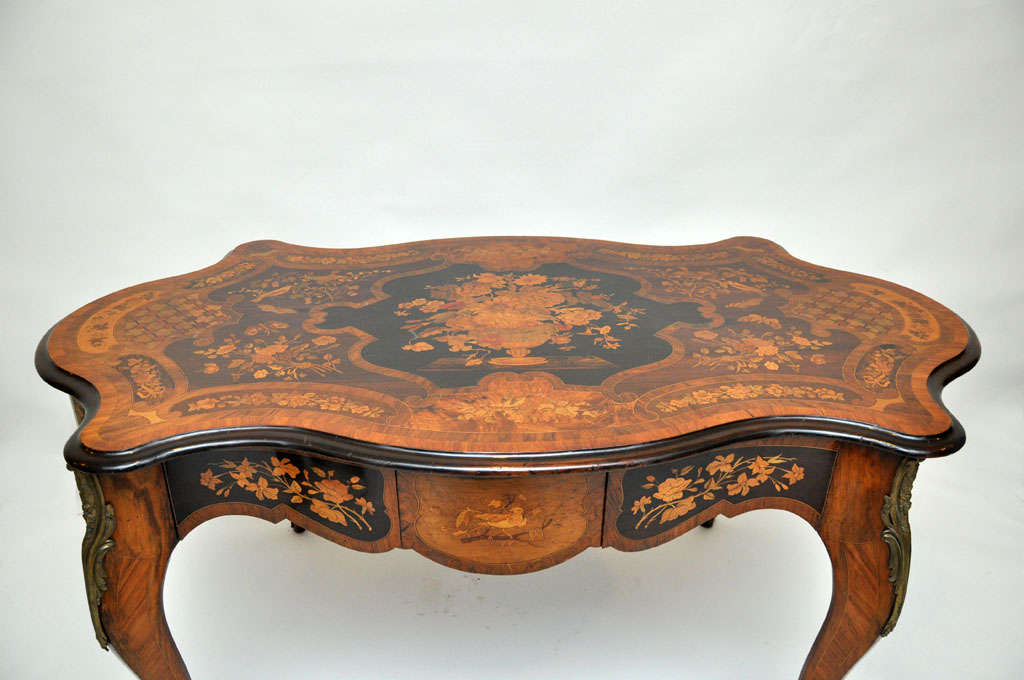 Italian Marquetry Music Table / Desk 3