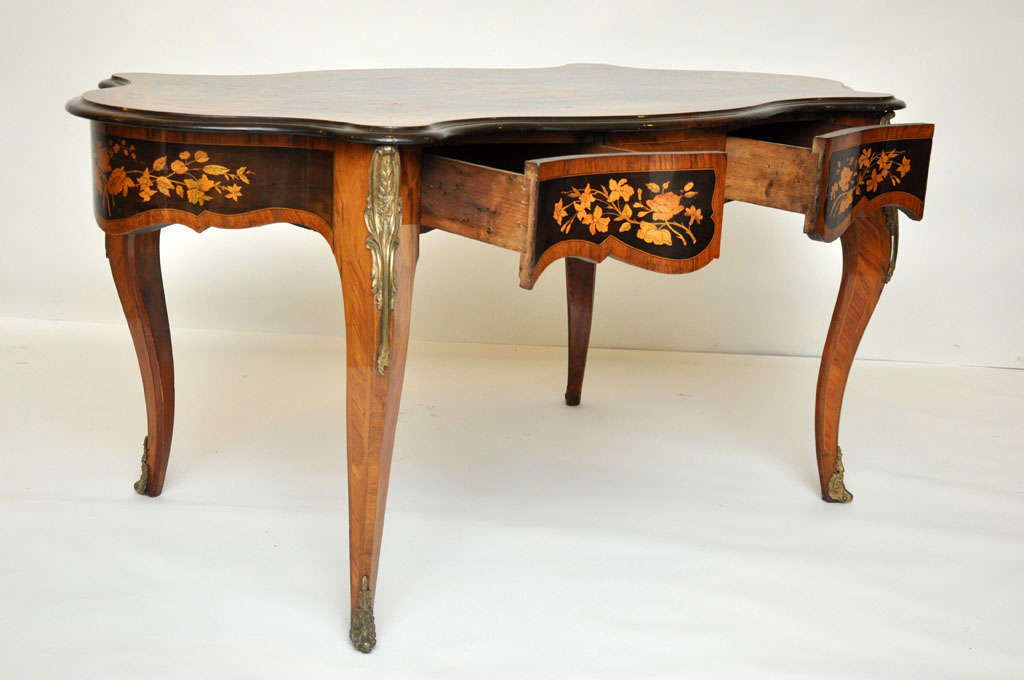 Italian Marquetry Music Table / Desk 4
