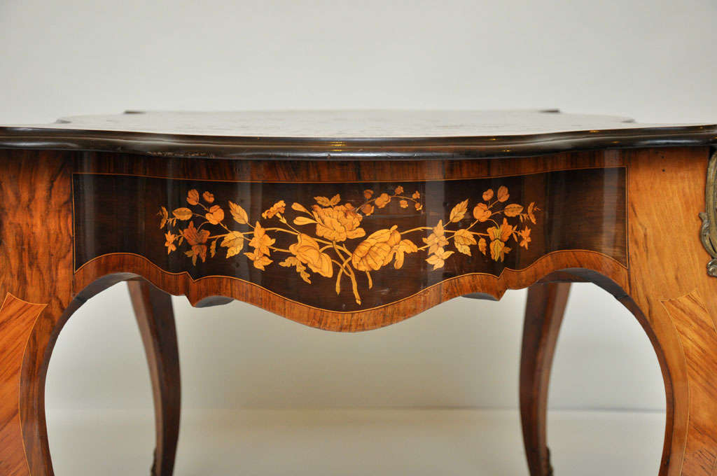 Italian Marquetry Music Table / Desk 6