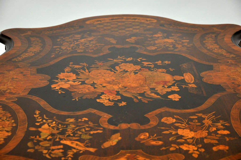 Italian Marquetry Music Table / Desk 7
