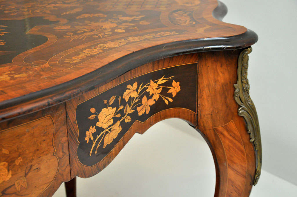 Italian Marquetry Music Table / Desk 8