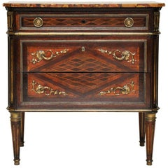Petite Neoclassical Style Chest of Drawers or Commode, France, 1850