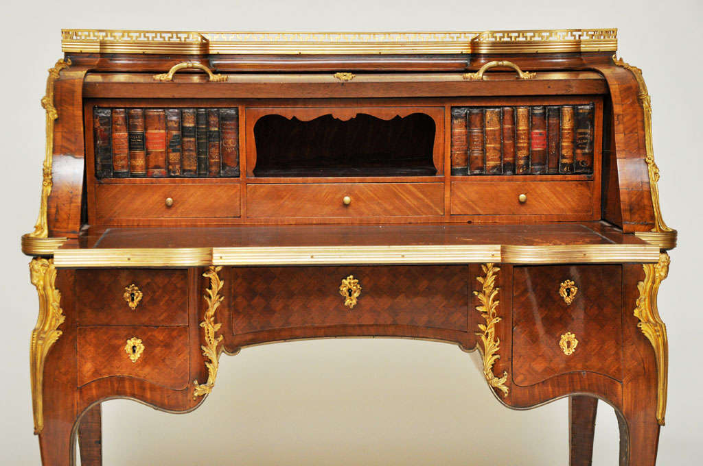 Louis XVI 18th Century French Transitional Cylinder Desk / Writing Table For Sale