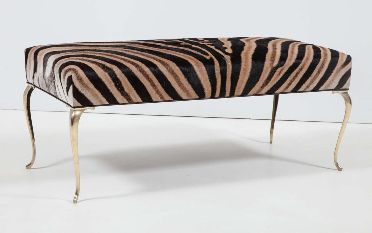 Zebra Bench Or Ottoman At 1stdibs