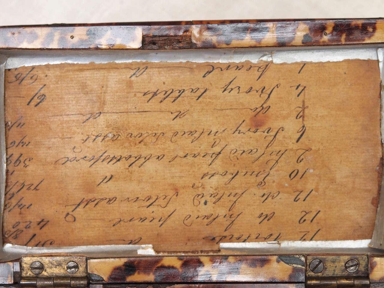 English Regency Tortoishell Tea Caddy For Sale 1