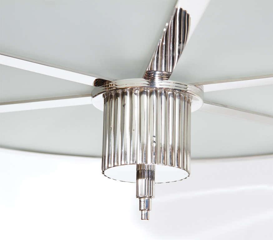 Outstanding Art Deco Chandelier With Nickeled Bronze 2