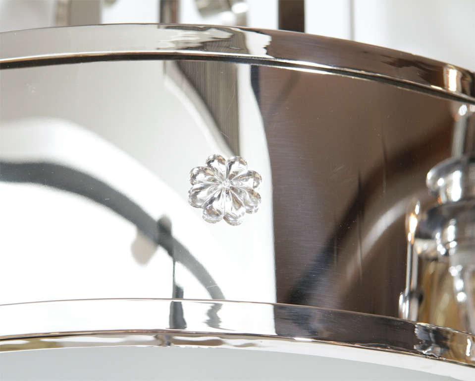 Outstanding Art Deco Chandelier With Nickeled Bronze 5