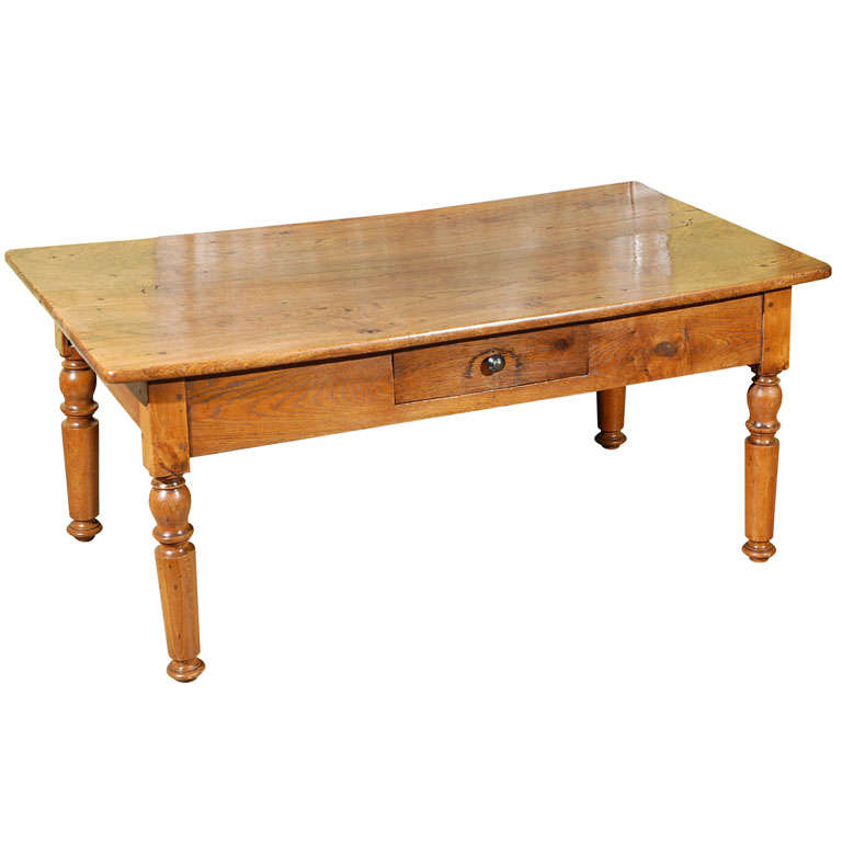 A French Elm Country Coffee Table C 1840 At 1stdibs