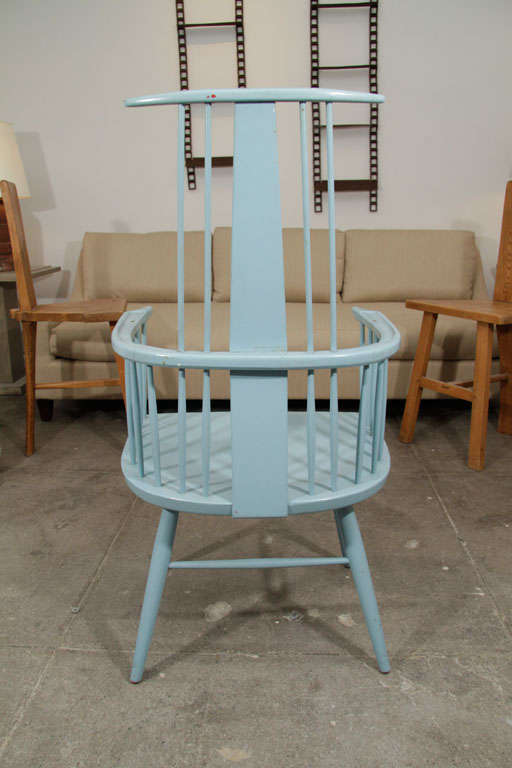 Pair of Blue Windsor Chairs image 8