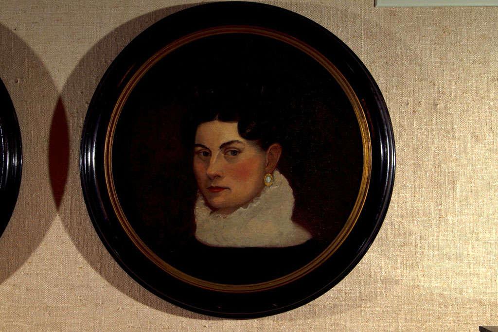 British Pair of 19th Century Portraits For Sale