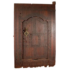 19th C. Large Moroccan Ryad Studded Moorish Antique Door