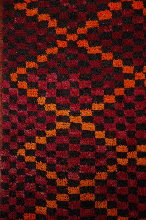 Wool Vintage Moroccan Large Pile Tribal Rug For Sale
