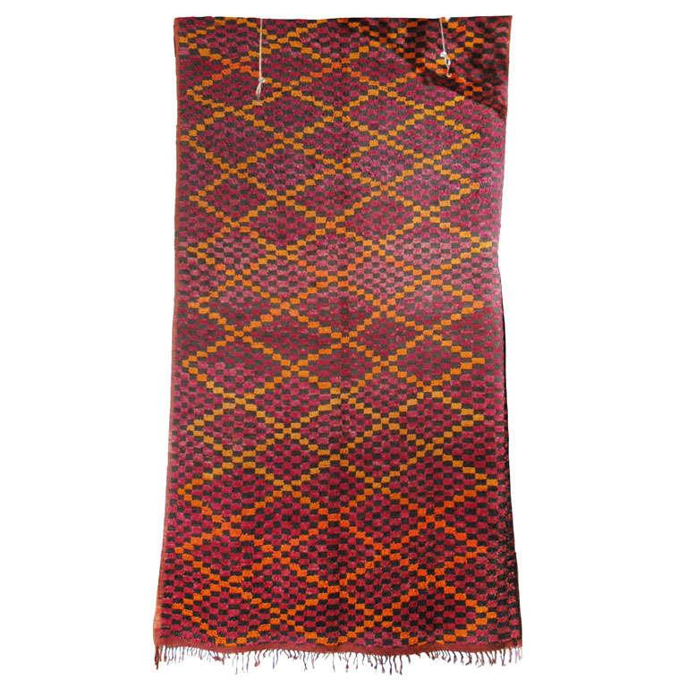 Vintage Moroccan Large Pile Tribal Rug