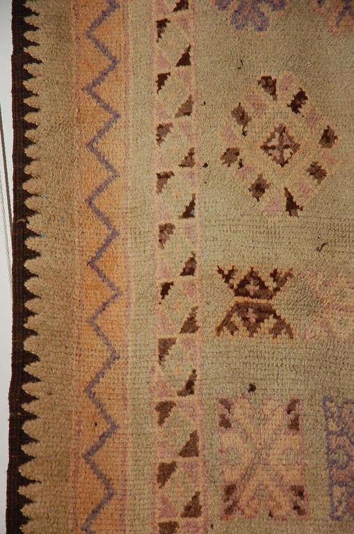 Vintage Moroccan Berber Tribal Rug, circa 1960 In Good Condition For Sale In Los Angeles, CA
