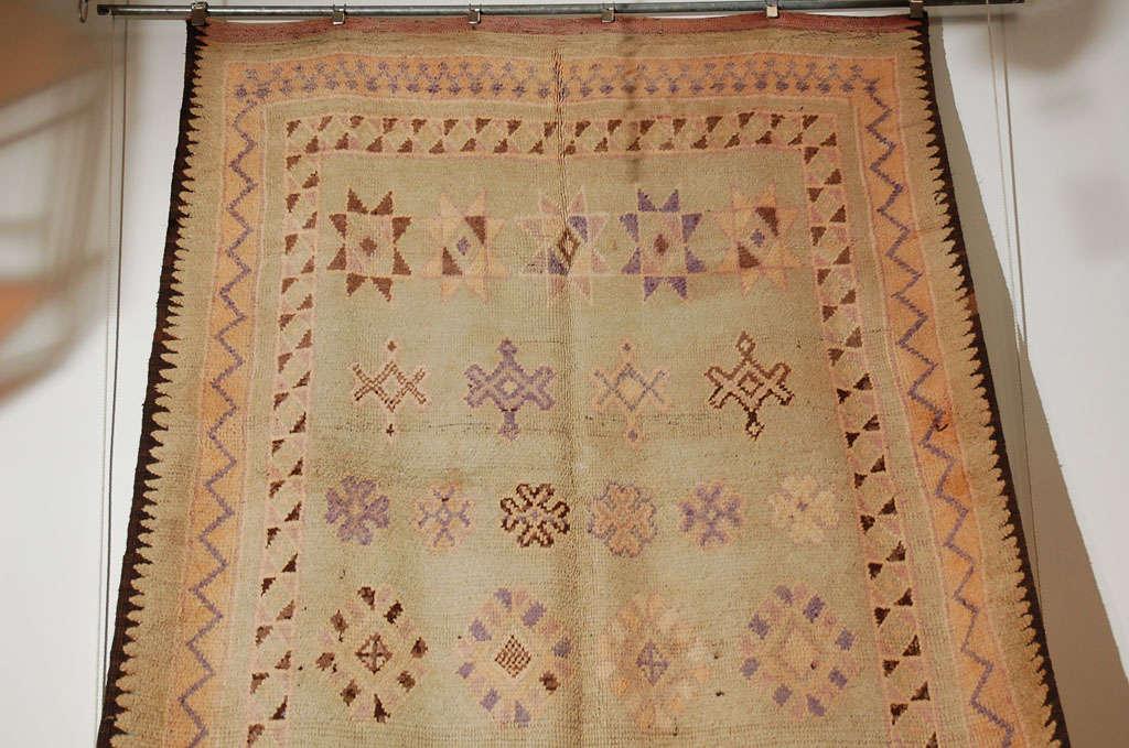 20th Century Vintage Moroccan Berber Tribal Rug, circa 1960 For Sale
