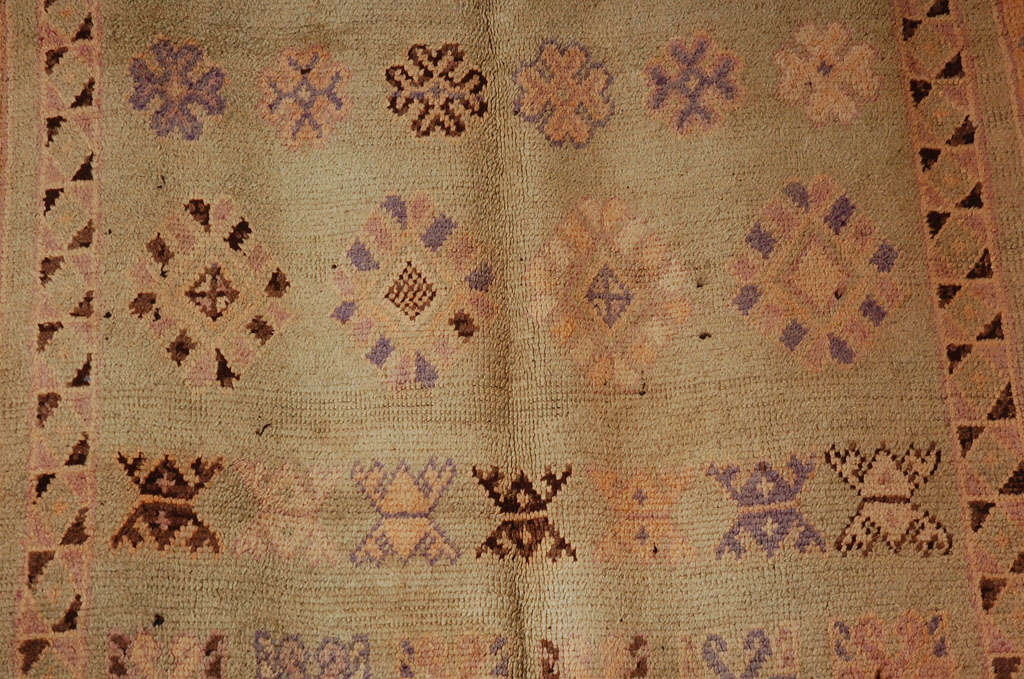 Wool Vintage Moroccan Berber Tribal Rug, circa 1960 For Sale
