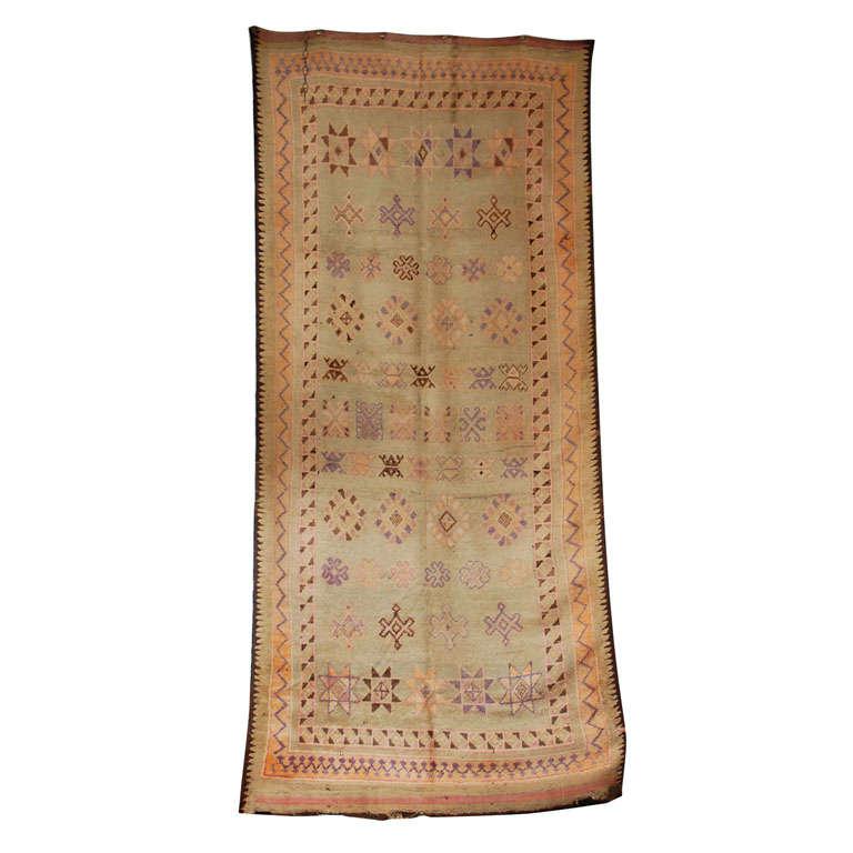 Vintage Moroccan Berber Tribal Rug, circa 1960 For Sale