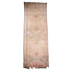 Vintage Tuareg Moroccan Tribal Runner Rug, circa 1960