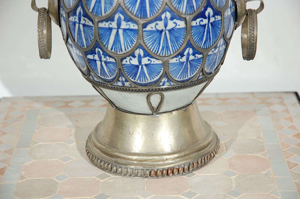 Antique Moroccan Ceramic Vase From Fez 3