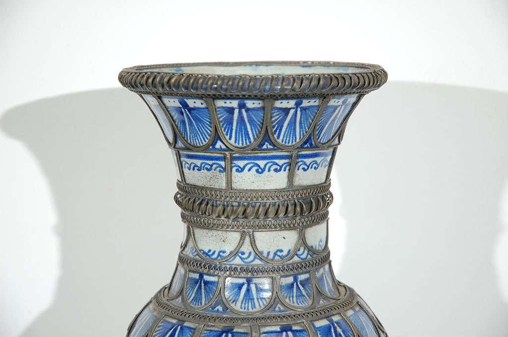 Antique Moroccan Ceramic Vase From Fez 4