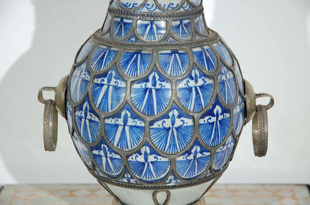 Antique Moroccan Ceramic Vase From Fez 5