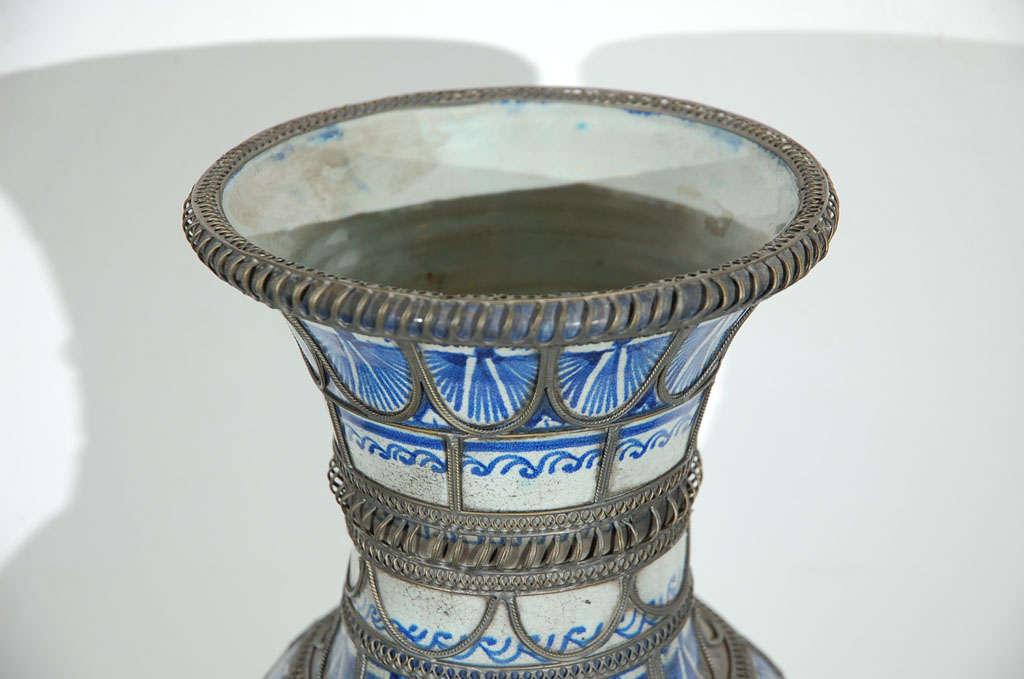 Antique Moroccan Ceramic Vase From Fez 6