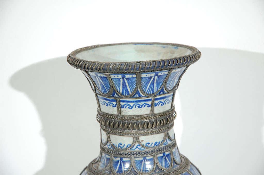 Antique Moroccan Ceramic Vase From Fez 7