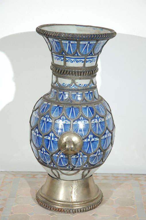 Antique Moroccan Ceramic Vase From Fez 8