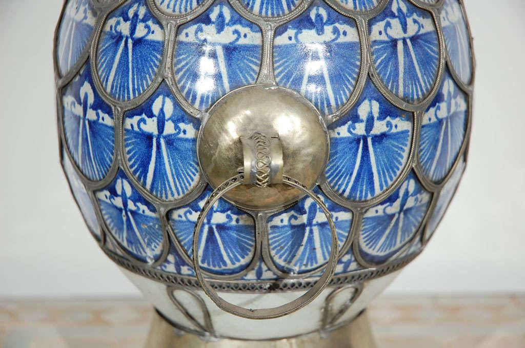 Antique Moroccan Ceramic Vase From Fez 9
