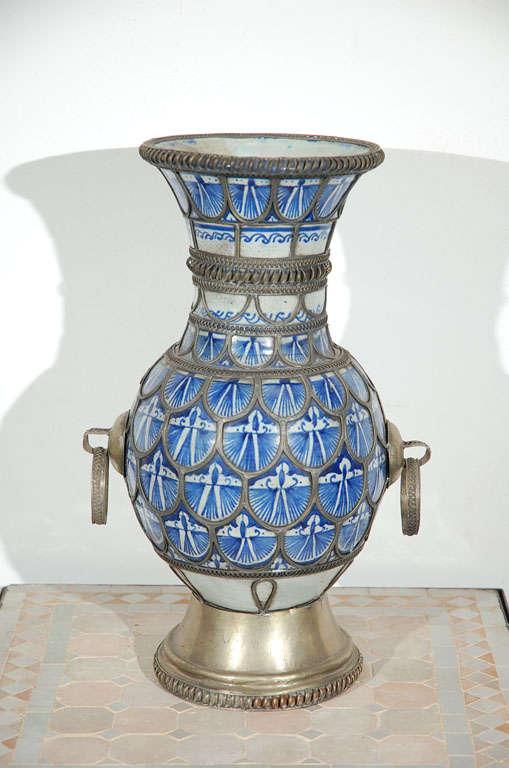 Antique Moroccan Ceramic Vase From Fez 2