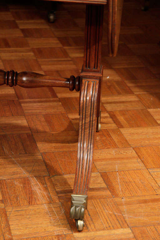 Regency Cork Sofa Table In Good Condition For Sale In New York, NY