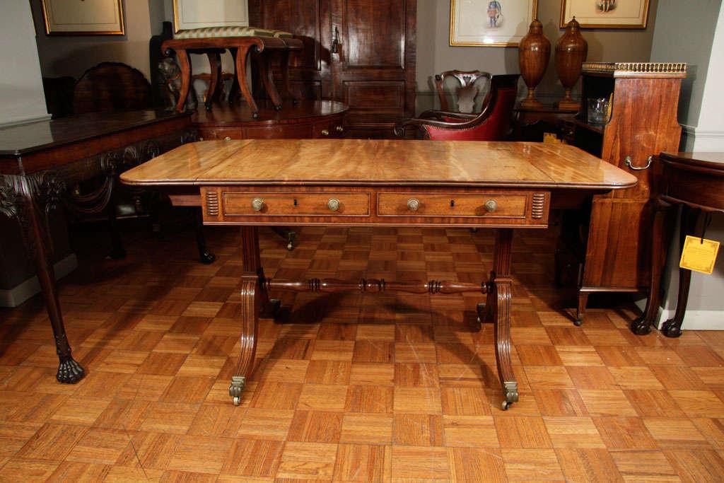Regency Cork Sofa Table For Sale 4