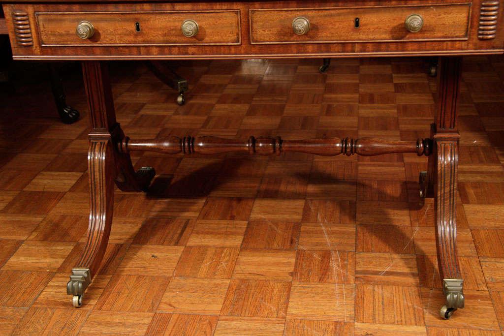 Regency Cork Sofa Table For Sale 5