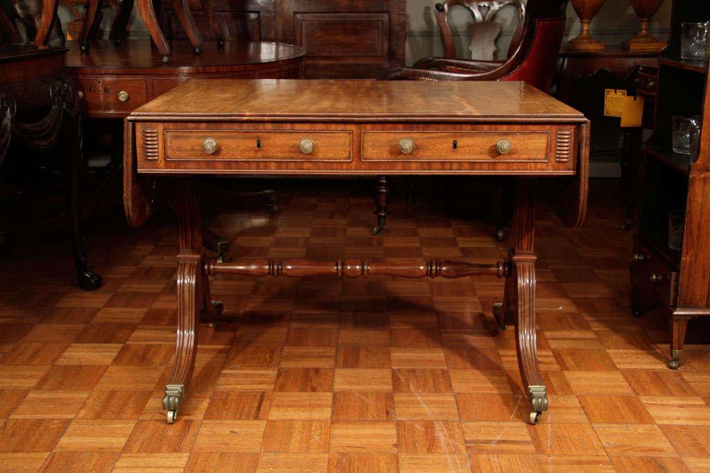 Regency Cork Sofa Table For Sale 6