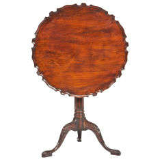 George III Mahogany Piecrust Tilt Top Table