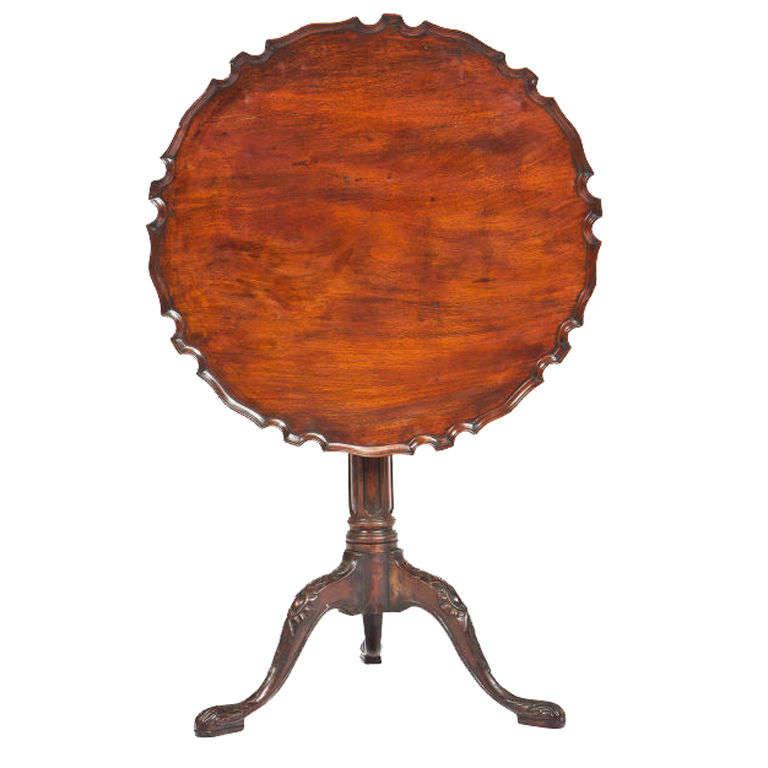 George III Mahogany Piecrust Tilt-Top Table