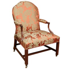 Late 19th Century Mahogany Open Armchair