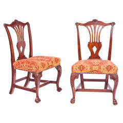 Set aus Vier Irischen, Georgianischen Mahagoni-Beistellstühlen