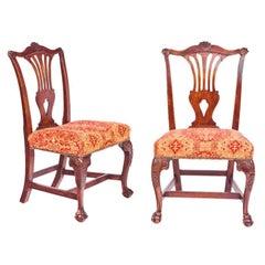 Set of Four Irish Georgian Mahogany Side Chairs