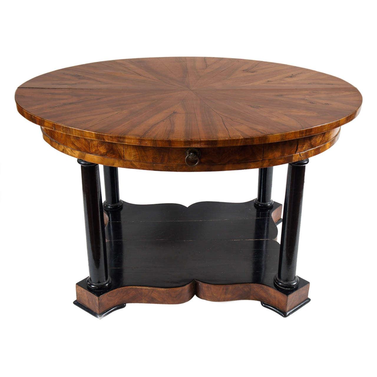 Exceptional biedermeier center table austria c 1830 for Furniture centre table