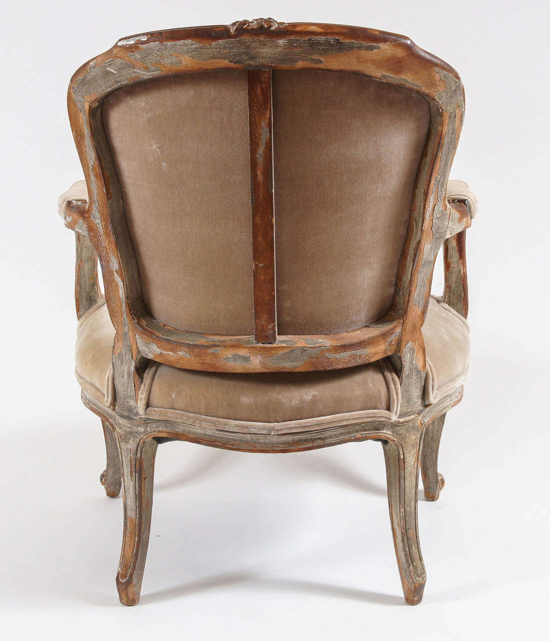 louis xv painted fauteuil france circa 1740 at 1stdibs. Black Bedroom Furniture Sets. Home Design Ideas