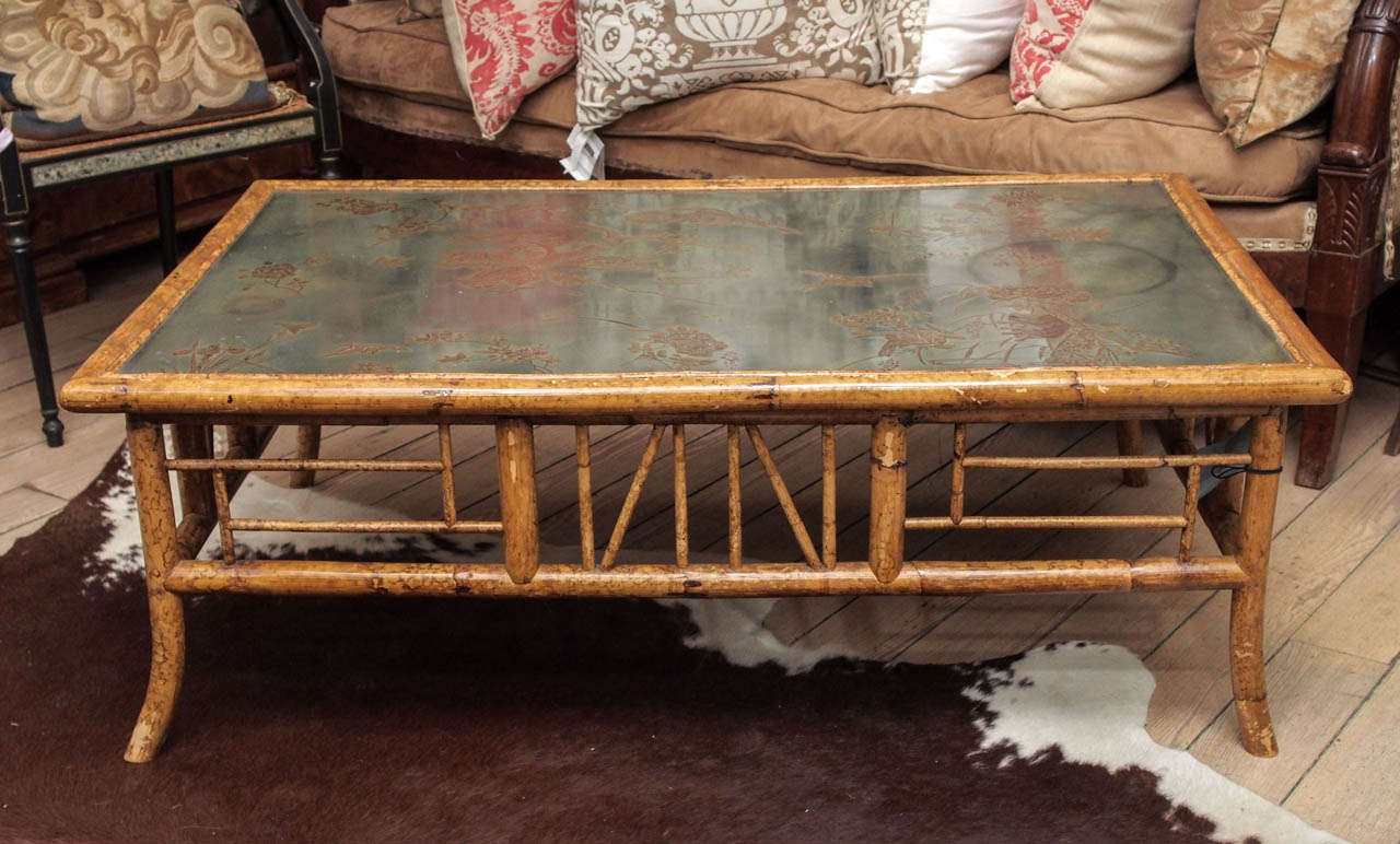 Bamboo Coffee Tables ~ Vintage english bamboo coffee table at stdibs