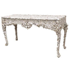 Unique Oyster Shell Console Table