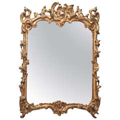 Very Fine French Regence Period Gilded Mirror