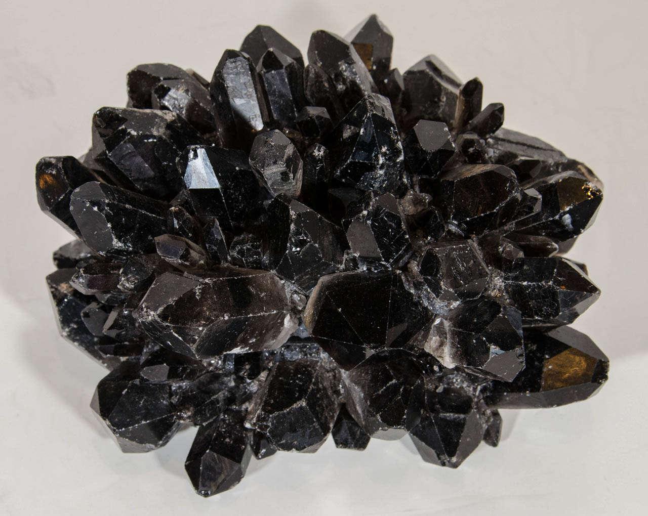 Exquisite And Rare Black Quartz Crystal Decorative Box At 1stdibs