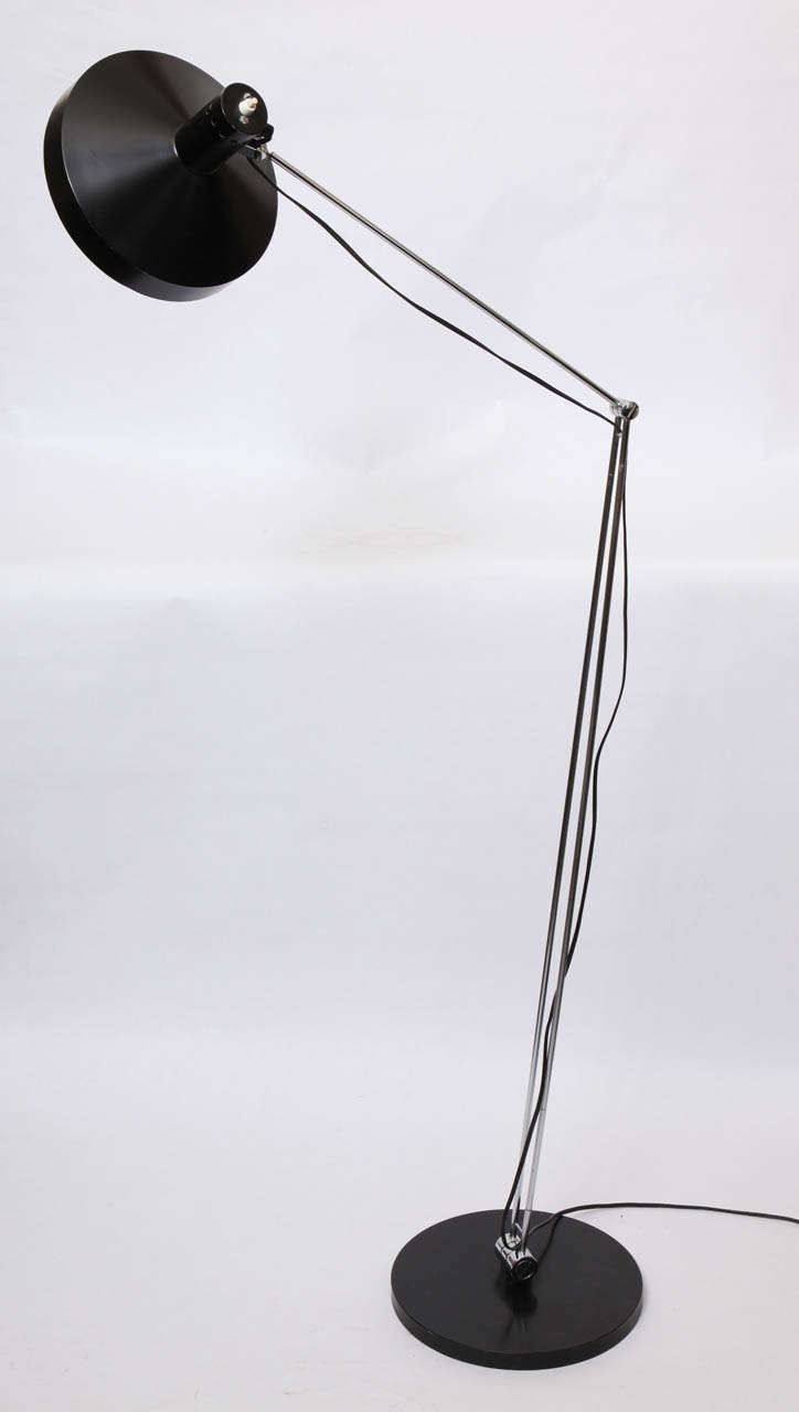 1950s Articulated Floor Lamp by Rico & Rosemary Battensweller, Switzerland For Sale 1